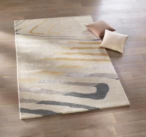 heine home Hochflorteppich - beige-grau
