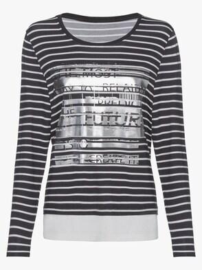 2-in-1-Shirt - marine-ecru-gestreift