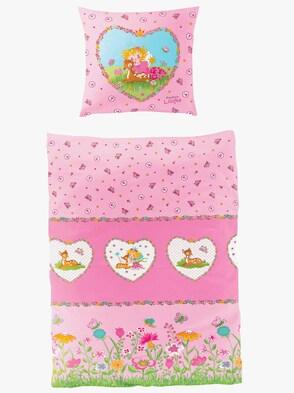 Bettwäsche - rosa-bedruckt