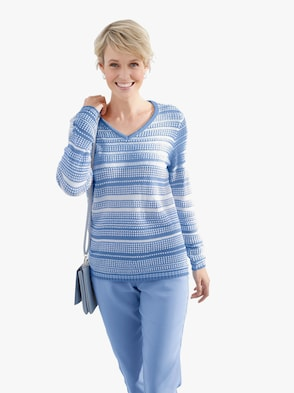 Pulóver - džínsová modrá