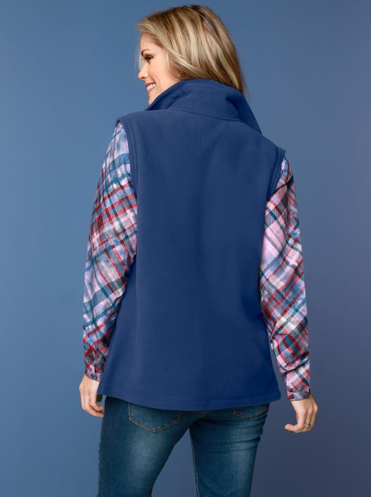Fleece-Weste - nachtblau