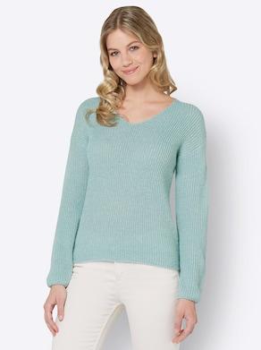 Pullover - kalkmint-meliert