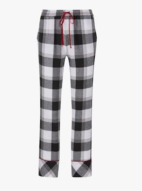 wäschepur Pyjama - schwarz-weiß-kariert