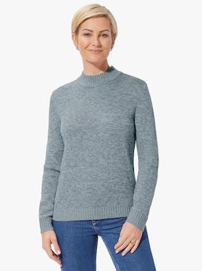 Pullover - wintertürkis-meliert