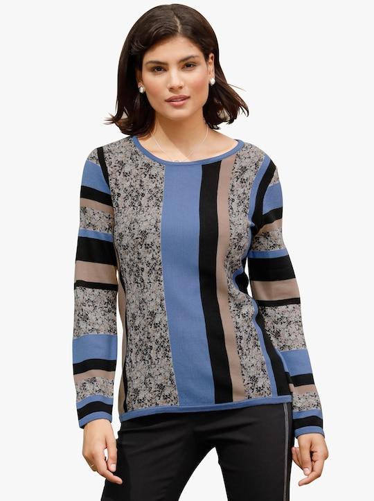 Pullover - korenbloem gedessineerd