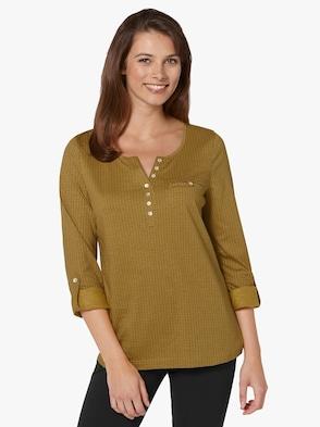 Shirt - gelb-bedruckt