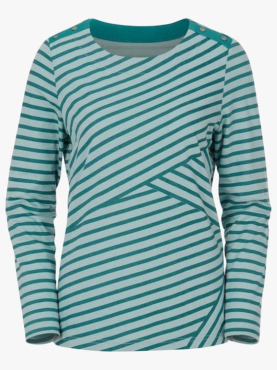 Shirt - mint-smaragd-gestreift