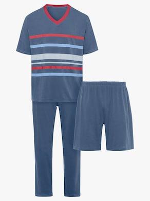 Pyžamo, 3-dielna súprava - námornícka modrá