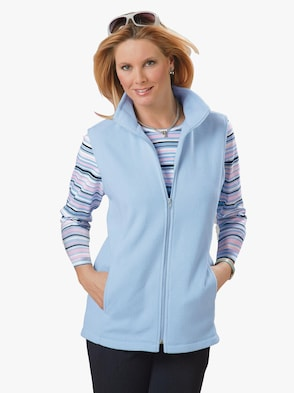 Fleece-Weste - bleu