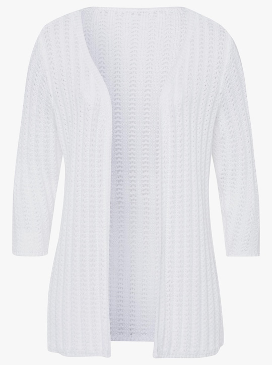 Pletený kabátek - bílá