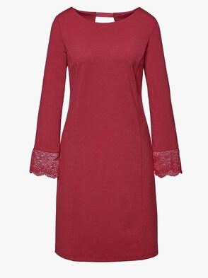 Jersey-Kleid - kirschrot