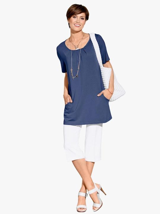 Lang shirt - nachtblauw