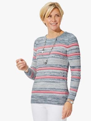 Pullover - koralle-geringelt