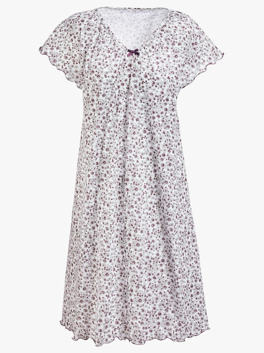Arabella Sleepshirt - weiß-lila