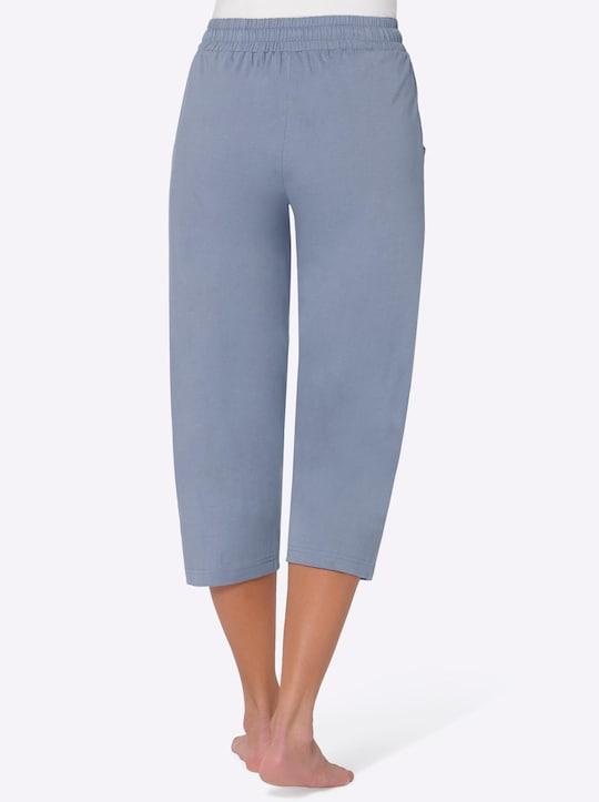 wäschepur 3/4-Schlafanzug-Hosen - rosé + blau