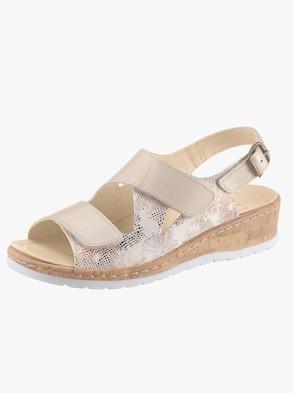 Sandale - beige-bedruckt