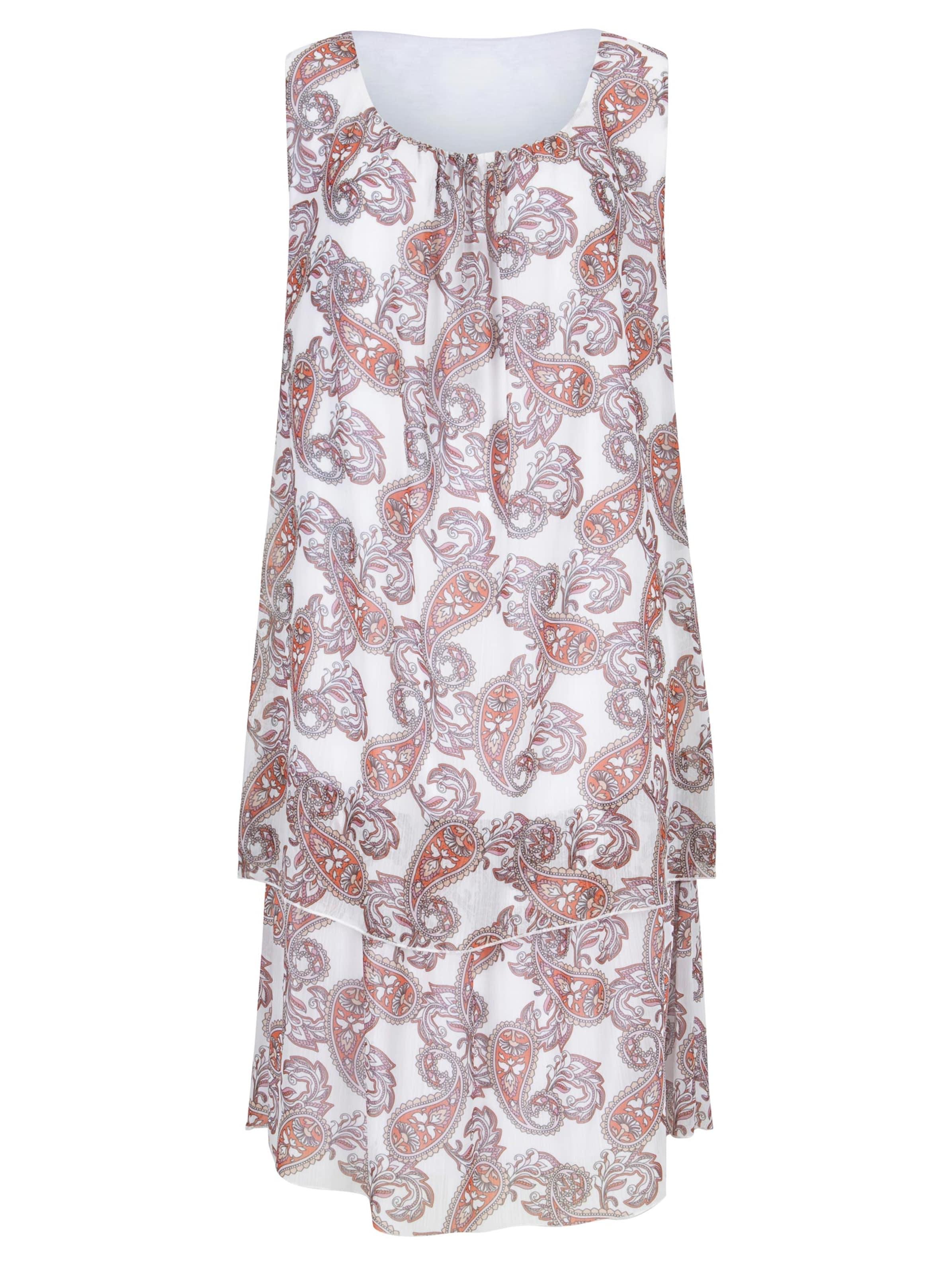 witt weiden -  Damen Druck-Kleid flamingo-ecru-bedruckt