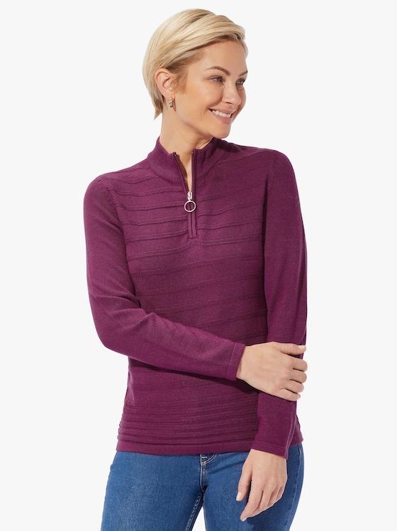 Pullover - braamrood