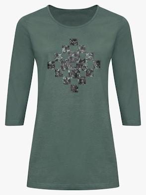 Dlouhé tričko - zelená