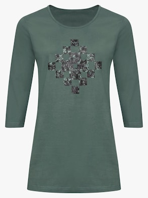 Dlhé tričko - zelená