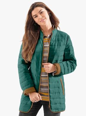Prešívaná bunda - jedľová zelená
