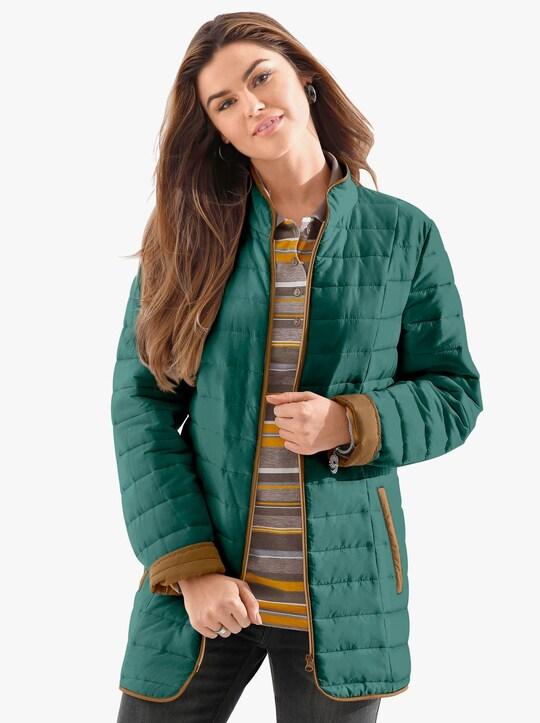 Prošívaná bunda - jedlová zelená