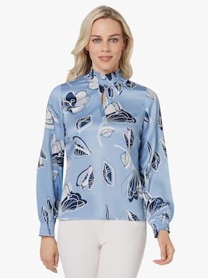 Bluse - bleu-bedruckt