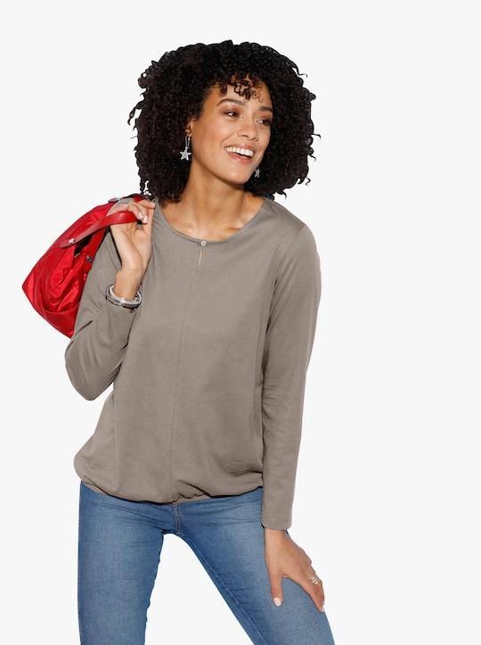 Tričko s dlouhým rukávem - taupe