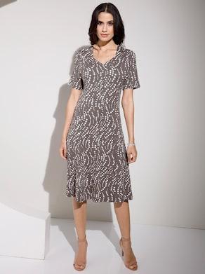 Fair Lady Jersey-Kleid - taupe-bedruckt