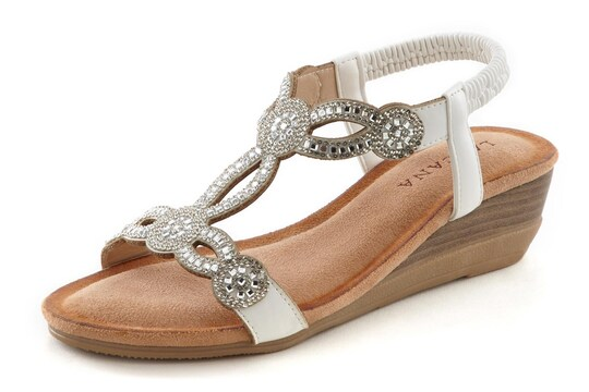 LASCANA Sandale - weiß