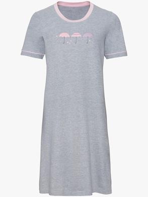 Sleepshirts - grau + grau-bedruckt