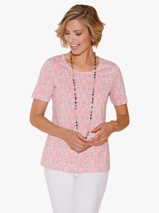 Shirt - koraal gedessineerd