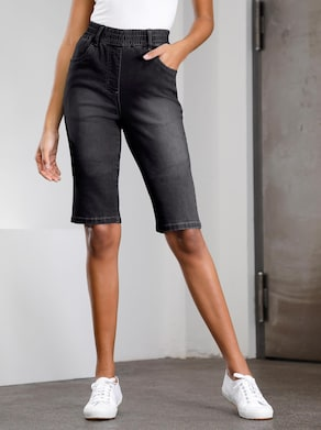 Jeans-Bermudas - black-denim