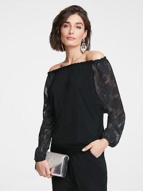 Patrizia Dini Shirt - schwarz