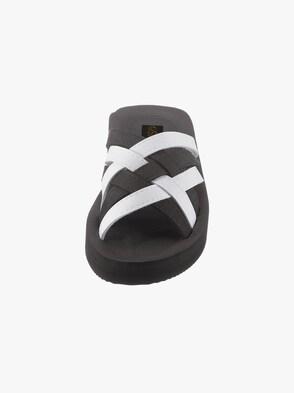 Bade-Pantolette - schwarz-weiß