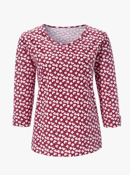 Tričko - tmavěčervená-vzor