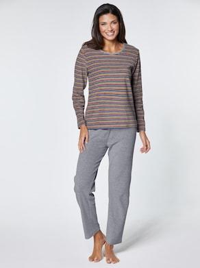 wäschepur Schlafanzug - grau-meliert-terra