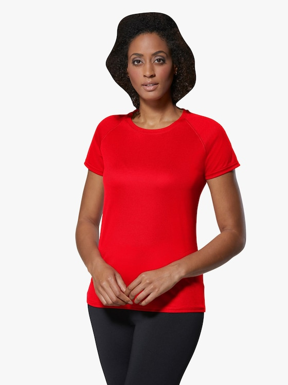Fruit of the Loom Damen-Sportshirt - rot