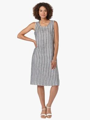 Kleid - marine-weiß-gestreift