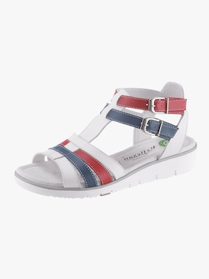 Sandale - weiß-marine