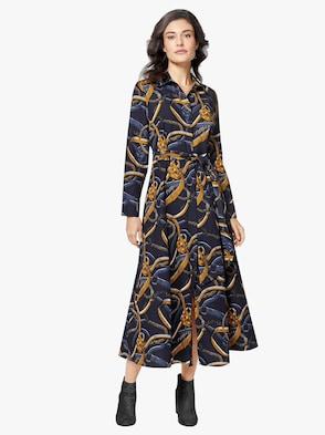 Kleid - marine-bedruckt