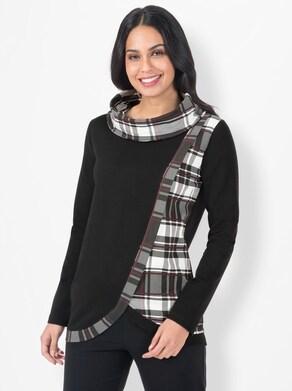 Sweatshirt - schwarz-gemustert