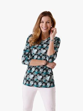 Lang shirt - salie gedessineerd