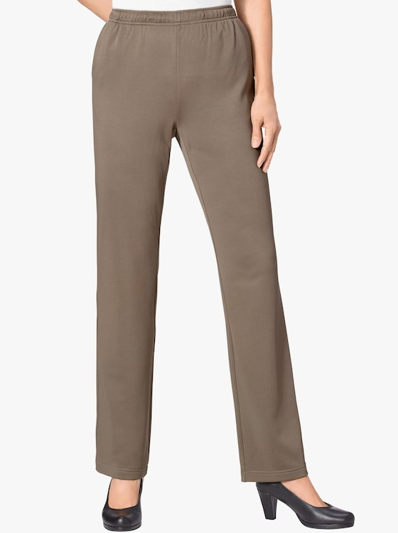 Jersey-Hose - taupe
