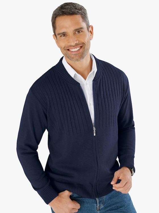 Pletený kabátek - námořnická modrá