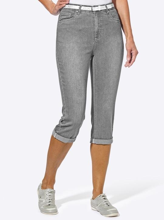 Collection L Capri-legging - grey-denim
