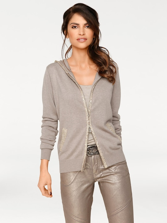 Best Connections Cardigan - taupe