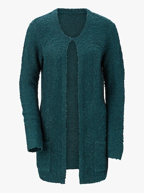 Strickjacke - petrol