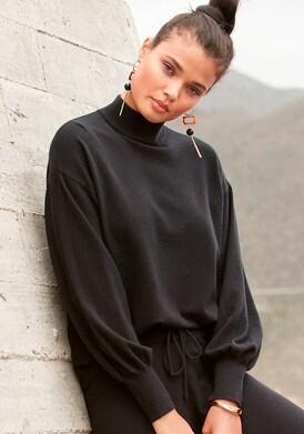 LASCANA Strickpullover - schwarz