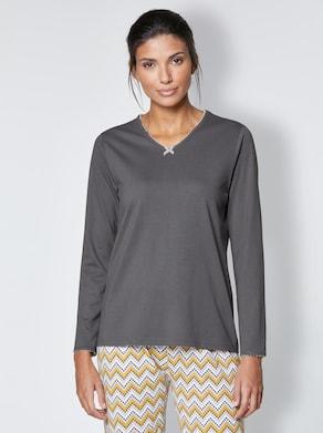 wäschepur Schlafanzug-Shirt - anthrazit